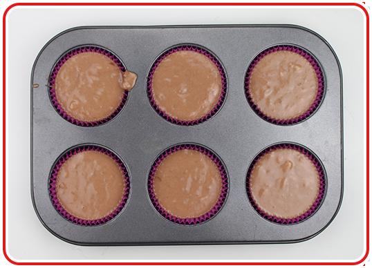 Step 5 - Hütchen-Cupcakes backen