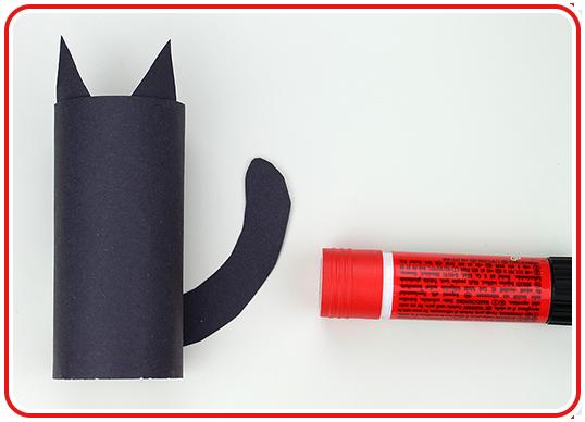 Step 2 - Klorollen Katze selber basteln