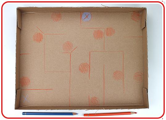 Step 1 - Kugel-Labyrinth basteln