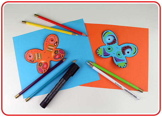 Step 2 - Lolli-Schmetterlinge