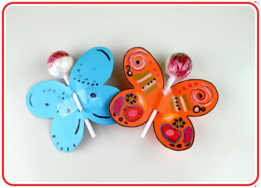 Step 3 - Lolli-Schmetterlinge