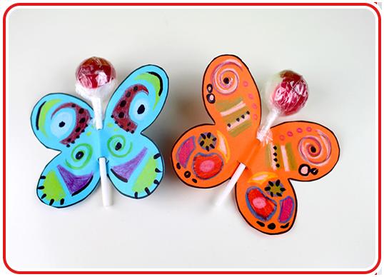 Step 4 - Lolli-Schmetterlinge