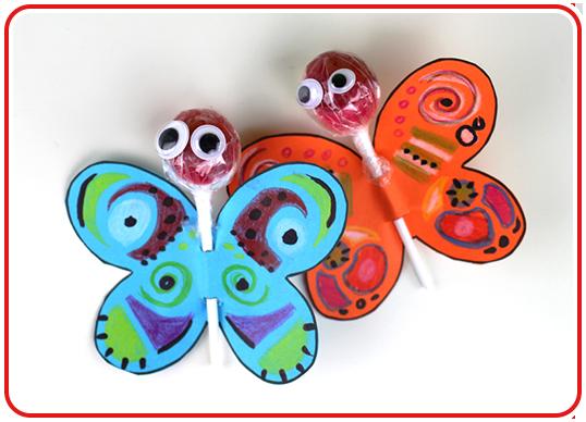 Step 5 - Lolli-Schmetterlinge