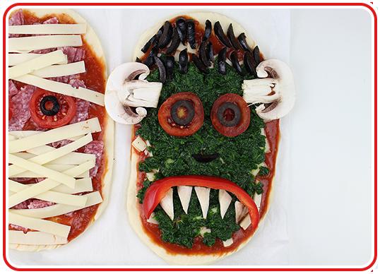 Step 13 - Monster-Pizzen backen