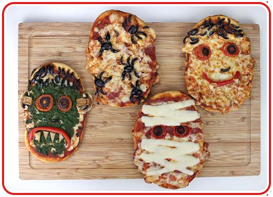 Step 16 - Monster-Pizzen backen