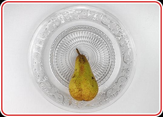 Step 1 - einen Pfau-Obstteller machen