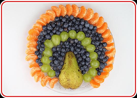 Step 2 - einen Pfau-Obstteller machen