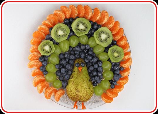 Step 4 - einen Pfau-Obstteller machen