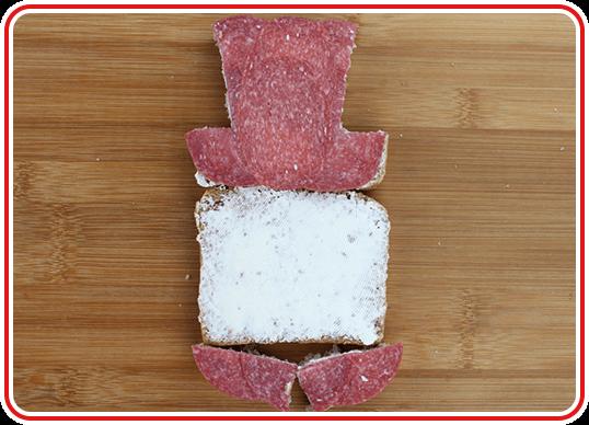 Step 1 - Schneemann-Toast