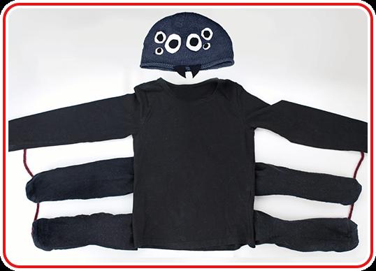 Step 6 - Spinnen-Kostüm selber basteln