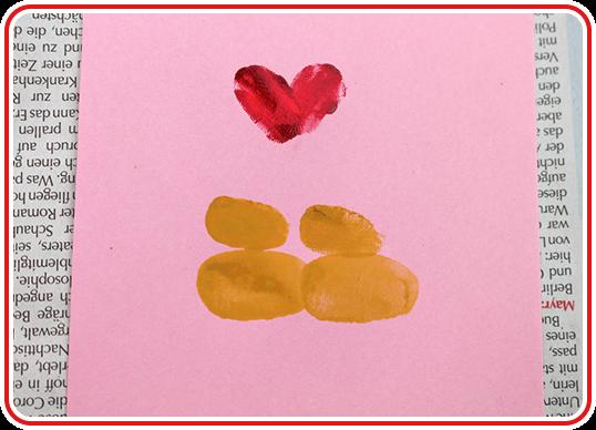 Eine Valentinskarte selber basteln - Step 2