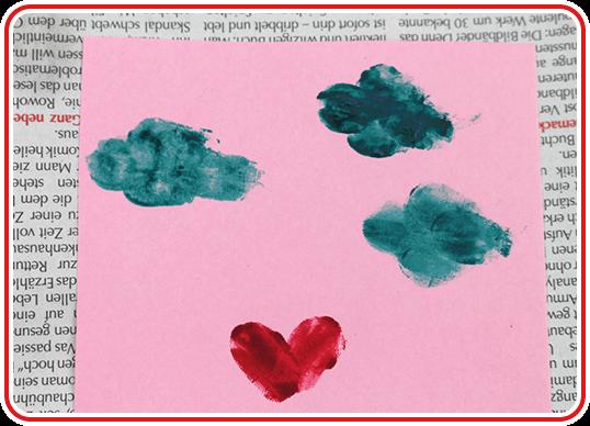 Eine Valentinskarte selber basteln - Step 3