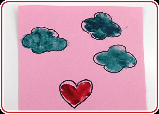 Eine Valentinskarte selber basteln - Step 4