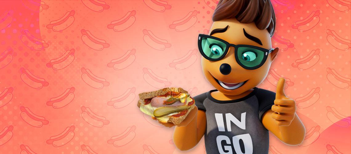 Hotdogtoast aus dem Backofen
