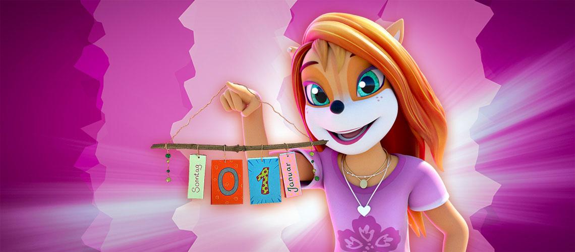 Berti bastelt einen tollen Jahreskalender