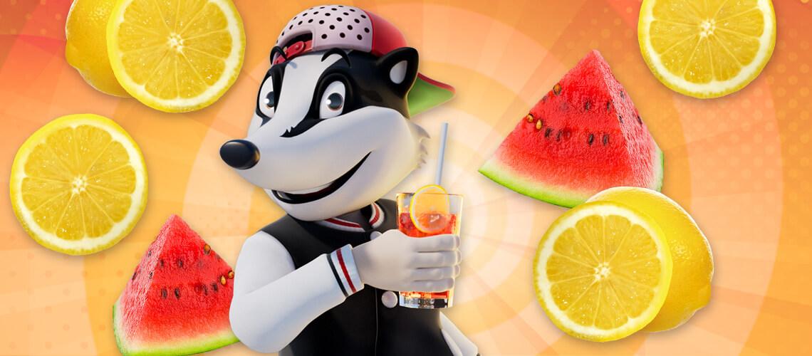 Eine große Frucht für eine große Erfrischung!