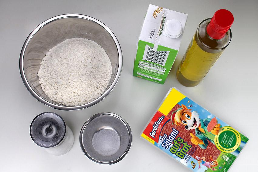 Zutaten für einen leckeren Fußball-Pfannkuchen