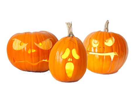 Was stellt man in den USA traditionell an Halloween vor die Haustür?