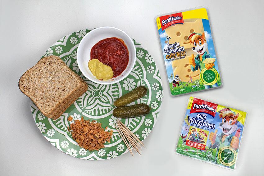 Zutaten für einen leckeren Ferdi Fuchs Hotdog-Toast