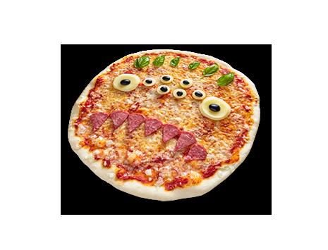Gruselige Monster-Pizzen selber backen