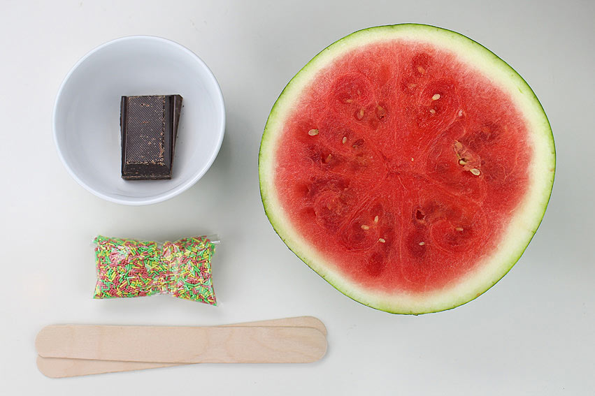 Zutaten für Wassermelone am Stiel