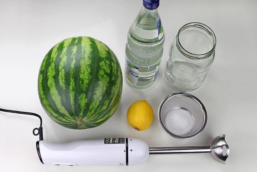 Zutaten für eine Wassermelonen-Limo