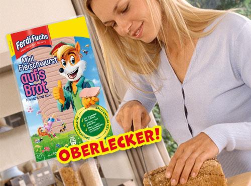 Oberlecker! Ferdi Fuchs Mini Fleischwurst aufs Brot
