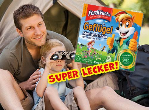 Super lecker! Ferdi Fuchs Geflügel Mini Würstchen