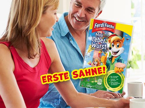 Erste Sahne! Ferdi Fuchs Mini Leberwurst