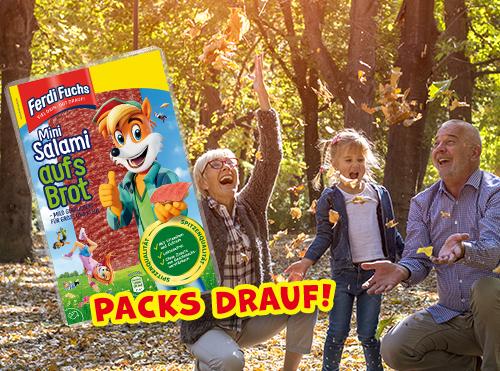 Packs drauf! Ferdi Fuchs Mini Salami aufs Brot