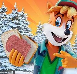 Schneemann-Toast